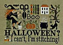 Click for more details of Halloween? I Can't, I'm Stitching! (cross stitch) by Jardin Prive