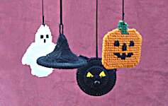 Click for more details of Halloween Mobile (tapestry) by Anne Peden