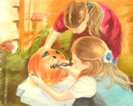 Click for more details of Halloween (pastel) by James Clifford
