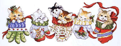 Click for more details of Hanging Around for Christmas (cross stitch) by Stoney Creek