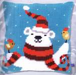 Click for more details of Happy Christmas Bear Cushion Front (tapestry) by Vervaco