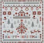 Click for more details of Happy Christmas (cross stitch) by Riverdrift House