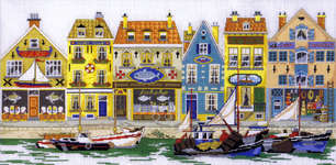 Click for more details of Harbour (cross-stitch kit) by Permin of Copenhagen