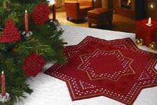Click for more details of Hardanger 49 - Christmas Trees and Stars (hardanger pattern) by Rico Design