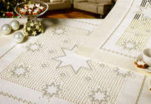 Click for more details of Hardanger Christmas Stars Table Toppers (hardanger kit) by Rico Design