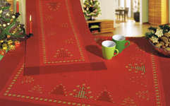Click for more details of Hardanger Christmas Trees Table Topper (hardanger kit) by Rico Design