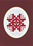 Click for more details of Hardanger Cross Christmas Cards (hardanger) by Permin of Copenhagen