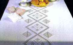 Click for more details of Hardanger Inspiration (hardanger pattern) by Permin of Copenhagen