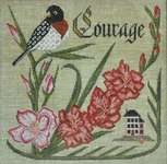 Click for more details of Have Courage (cross stitch) by Cottage Garden Samplings
