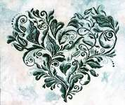 Click for more details of Heart Leaves (cross stitch) by Keslyn's