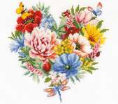 Click for more details of Heart of Flowers (cross stitch) by Vervaco