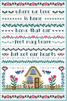 Click for more details of Heart's Home (cross-stitch pattern) by Designs by Cathy
