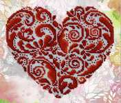 Click for more details of Heart Shaped Lace (beadwork) by VDV