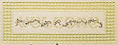 Click for more details of Heartfelt Welcome (hardanger pattern) by Cross 'N Patch
