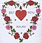Hearts Wedding Sampler