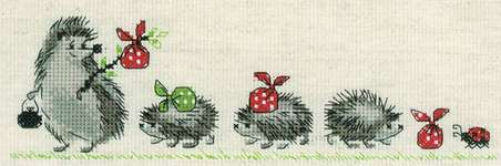 Click for more details of Hedgehogs (cross stitch) by Riolis