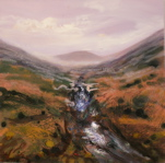 Click for more details of Highland stream (acrylic) by Kevan McGinty