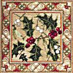 Click for more details of Holly and Mistletoe (tapestry) by Rose Swalwell