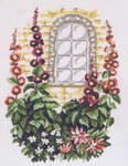Click for more details of Hollyhocks by a Window (cross-stitch kit) by Permin of Copenhagen