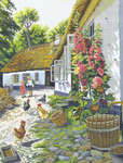 Click for more details of Hollyhocks (cross stitch) by Eva Rosenstand