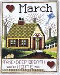 Click for more details of Home of the Month - March (cross stitch) by Stoney Creek