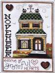 Click for more details of Home of the Month - November (cross stitch) by Stoney Creek