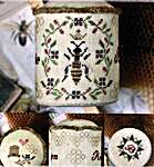 Click for more details of Honeybee Pin Drum (cross stitch) by Heartstring Samplery