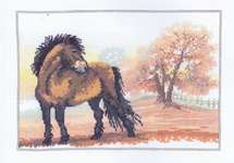 Horse in an Autumn Landscape