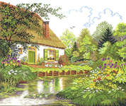 Click for more details of House and Woodland Lake (cross stitch) by Eva Rosenstand