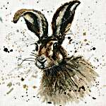 Click for more details of Hugh the Hare (cross stitch) by Bree Merryn