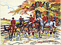 Click for more details of Hunting Scene (cross stitch) by Eva Rosenstand