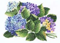 Click for more details of Hydrangea (cross stitch) by Eva Rosenstand