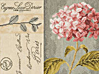 Click for more details of Hydrangea (cross-stitch kit) by Lanarte