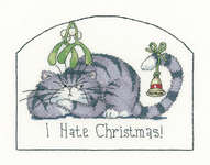 Click for more details of I Hate Christmas (cross stitch) by Peter Underhill