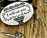 Click for more details of I Will Cut You Scissor Book (cross stitch) by Stacy Nash Primitives