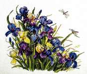 Click for more details of Irises (cross stitch) by Merejka