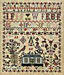 Click for more details of Jane Fiddes 1835 (cross stitch) by Hands Across the Sea Samplers