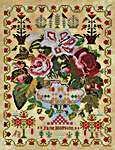 Click for more details of Jane Hopkins 1875 (cross stitch) by Hands Across the Sea Samplers