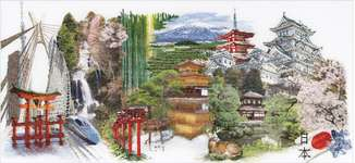 Click for more details of Japan (cross stitch) by Thea Gouverneur
