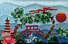 Click for more details of Japanese Garden (long-stitch) by Julie Lynes