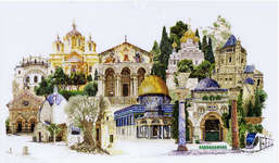 Click for more details of Jerusalem (cross stitch) by Thea Gouverneur