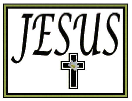 Click for more details of Jesus and Cross Sampler (cross-stitch pattern) by Mary Gaines