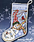 Jingle Bell Joy Snowman Stocking