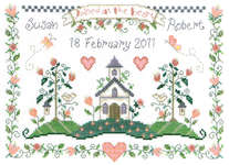 Click for more details of Joined at the Heart (cross stitch) by Imaginating