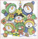 Click for more details of Jolly Snowmen (cross stitch) by Imaginating