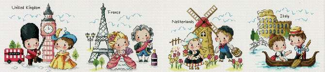 Click for more details of Journey around the World 1 (cross stitch) by Soda Stitch