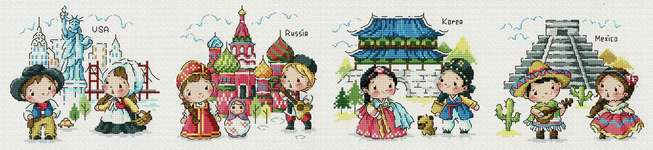 Click for more details of Journey around the World 2 (cross stitch) by Soda Stitch