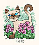 Click for more details of June Cat (cross-stitch kit) by Peter Underhill