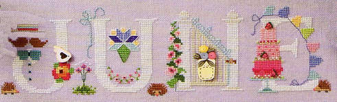 Click for more details of June (cross-stitch pattern) by The Cross-Eyed Cricket