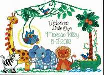 Click for more details of Jungle Family Birth Record (cross stitch) by Imaginating